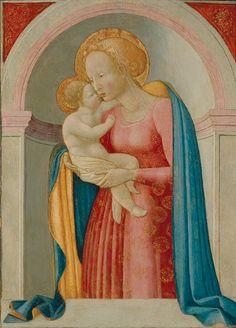 Pesellino (Francesco di Stefano) (Italian, Florentine, ca. 1422-1457):  Virgin and Child  (ca. 1444-46, tempera on panel)