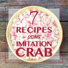 Did you know imitation crab meat is much cheaper and easier to work with than real crab? These delicious recipes prove you shouldn't overlook this protein. Fish Dishes, Seafood Dishes, Imatation Crab Recipes, Copycat Recipes, Recipies, Imitation Crab Salad, Imitation Crab Soup Recipe, Crab Casserole, Crab Bisque