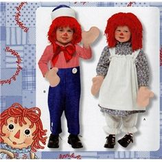 Simplicity 2784 Raggedy Ann & Andy Toddler Costume PATTERN #pattern #sewing #raggedyann #raggedyandy #costumes #halloween