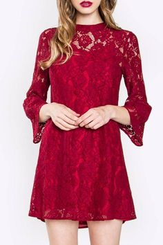 Sugarlips Red Lace Dress