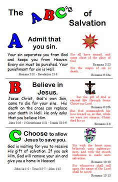 It's just a graphic of Canny Abc of Salvation Printable