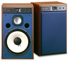 JBL 4319 Monitors with blue face. Audiophile Speakers, Monitor Speakers, Bookshelf Speakers, Hifi Audio, Audio Speakers, Professional Audio, Audio Design, Music System, Speaker System