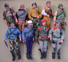 """LOT x9 PACO THE MAGNIFICENT TEAM ACTION FIGURES 8"""" MEGO LIKE #PACO"""