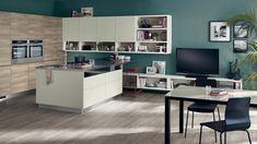 cuisine-ouverte-salon-meuble-bas-télé-design-moderne