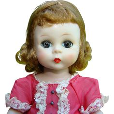 C1955 Alexander-kins Doll Wendy Play Dress Red Taffeta SLW Madame Alexander