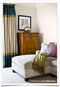 thinking I might try making these drapes for my living room.  My obsession with stripes is taking over  my home. :)