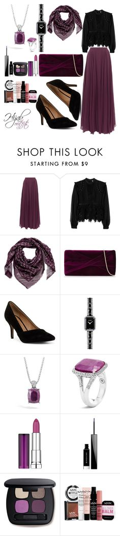 """""""#Soirée_hijab"""" by mennah-ibrahim ❤ liked on Polyvore featuring Halston Heritage, self-portrait, Louis Vuitton, Reiss, Nanette Lepore, Chanel, John Hardy, Maybelline, Givenchy and Bare Escentuals"""