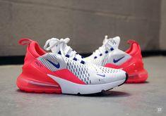 39dc4e89435fd Nike Air Max 270 White Ultramarine Solar Red AH6789-101