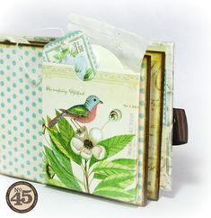 This Botanical Tea mini is ready for a tea party! Tea sachets included! By: Alberto Juarez Diaz #graphic45 #minialbums