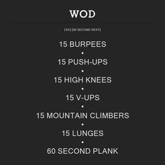 WOD Number 1. #WOD #crossfit