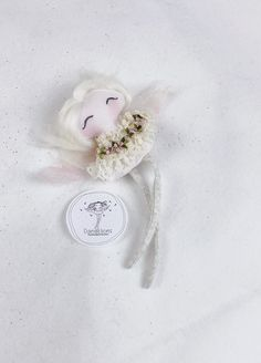Tooth fairy / Fairy doll / Ornament Beautiful Fairies, Beautiful Dolls, Roving Wool, Rainbow Fairies, Joy And Happiness, Fairy Dolls, Tooth Fairy, Handmade Dolls, Cool Baby Stuff