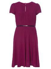 Fuchsia pink pintuck dress