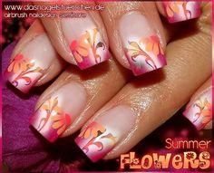 Sommerliches Airbrush Design