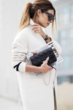 Winter Chic, Autumn Winter Fashion, Coco Chanel, Classy Outfits, Stylish Outfits, Miss Dior Bag, Lydia Elise Millen, Dior Clutch, Fashion Brand