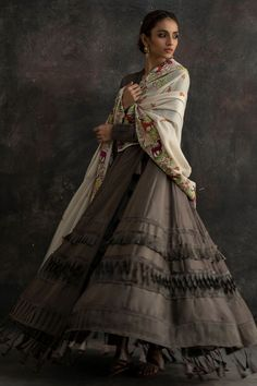 Shop the Nida Azwer Official Website. Dress Indian Style, Indian Dresses, Indian Outfits, Choli Designs, Lehenga Designs, Indian Designer Suits, Designer Gowns, Indian Wedding Gowns, Bollywood Outfits