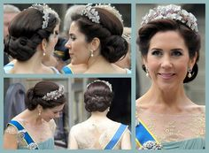 Looks a bit like Elsa's coronation hairstyle. Princess Mary of Denmark.