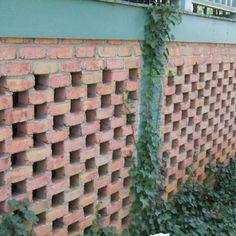 Pierced Brick Garden Wall At The Todd House In Lexington