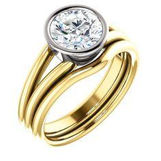 Diamond Engagement Rings : 1.5 Ct Round Diamond Engagement Ring 14k Yellow/white Gold Goldia.com