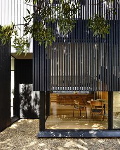 """Garth #ola_architecture_studio @derek_swalwell #architectureaustralia #victorianarchitecture #northcote #wood #charredwood #screen"""