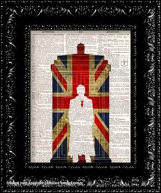Dr Who And The British Flag Vintage 98