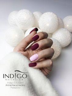 Bed of Roses Gel Polish by Indigo Educator Anna Kaczmarska, Rzeszów #nails #nail #indigo #red #nailart #winter #winternails