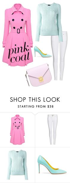 """Pink"" by purdyforlife ❤ liked on Polyvore featuring WithChic, Burberry, Polo Ralph Lauren, Nicholas Kirkwood and MCM"