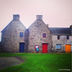 Stone buildings associated with a 17th century salt works at Slade, Co. Wexford, Ireland