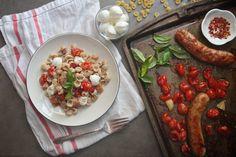 Roasted Tomato Sausage Mac & Cheese // shutterbean