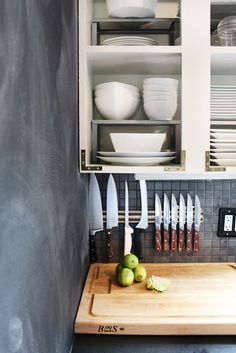 Magnetic Knife Rack | Campaign Hardware | Open Shelves