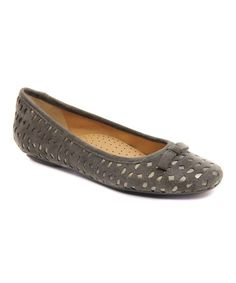 Loving this Dark Gray & Pewter Silva Suede Flat on #zulily! #zulilyfinds