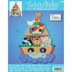 Tobin Baby NOAH'S ARK WALL HANGING Plastic Canvas Kit ANIMALS Tobin Home Crafts  #TOBINHOMECRAFTS
