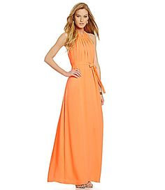 Cremieux Kim Shirred Georgette Maxi Dress #Dillards