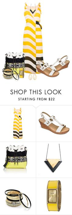 """My Sunday Beach Stroll Outfit"" by mozeemo ❤ liked on Polyvore featuring Fendi, Proenza Schouler, Venus, Vernier and Aurélie Bidermann"