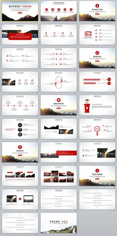 29+ Red Report PowerPoint templates on Behance