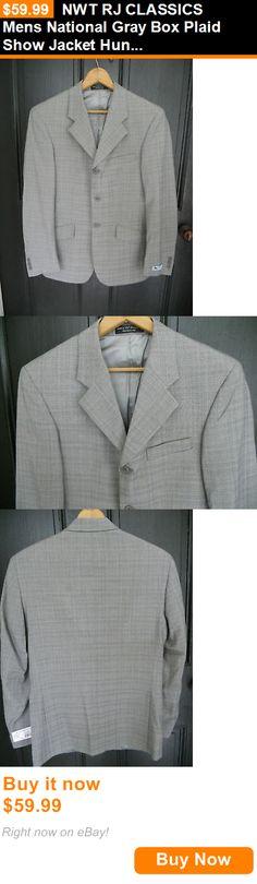 English Show Coats 183362: Nwt Rj Classics Mens National Gray Box Plaid Show Jacket Hunt Coat Sizes 38 40 BUY IT NOW ONLY: $59.99