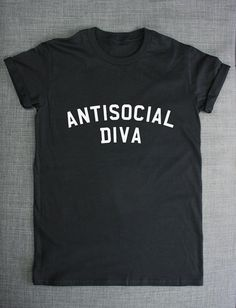 Antisocial Diva Streetwear T-Shirt by ResilienceStreetwear on Etsy