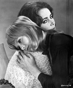 "Susannah York and Elizabeth Taylor.  ""Zee and Co."" 1972"