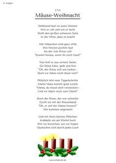 """""""Mäuse-Weihnacht"""" - Weihnachtsgeschichte in 24 Strophen - eBook hier: www.kitakiste.jimdo.com"""