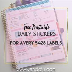 Hey everyone! I am back with more templates for my collaboration with Avery Products where we are going to provide you with easy to print templates to make your own stickers for your planner! These next few designs are all daily boxes for the Avery Product #5428 again!  (I promise next time will be for some of...Read More