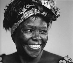 Dr Wangari Maathai, the first African woman to win a Nobel Peace Prize.