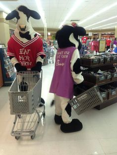 @Chick-fil-A cows happily shopping at Mardel!