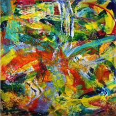 """Saatchi Art Artist Nestor Toro; Painting, """"""""Cascada sonica"""" Sonic waterfall"""" #art"""