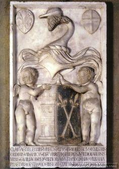 Luca Della Robbia - Stemma di Amico della Torre (Firenze, Museo Nazionale del Bargello, 1431) .jpg