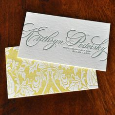 Calligraphy Two Color Double Sided Letterpress by dellacarta, $195.00