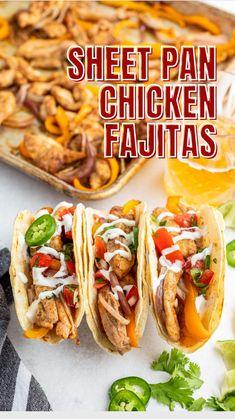 Mexican Food Recipes, Vegetarian Recipes, Dinner Recipes, Low Carb Recipes, Cooking Recipes, Healthy Recipes, Burritos, Tacos, Sheet Pan Suppers