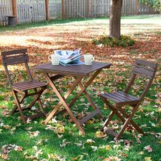 Catalina 3pc Folding Outdoor Bistro Set, $179 for set, nice, inexpensive