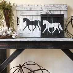 RUSTIC HORSE DECOR, Equestrian wall decor, Horse decor, Horse wall art, Rustic horse painting, Modern farmhouse decor, Farmhouse art