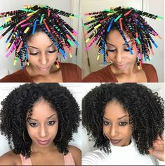 Video: Change Your Hairstyle With Straw Curls! Straw curls are very cute, simple and easy to create. The beauty in this style is that you can create this style without breaking the bank. Straw Set Curls, Straw Set Natural Hair, Natural Hair Tips, Natural Hair Styles, Curls With Straws, Straw Hair Curls, Curly Hair With Straws, Permed Hairstyles, Diy Hairstyles