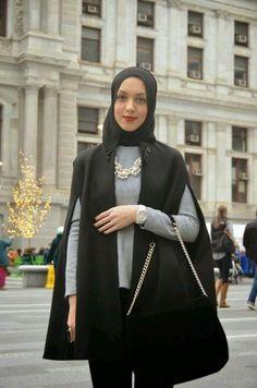 cape blazer hijab-Instargram hijab fashion outfits – Just Trendy Girls