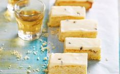 Best ever passionfruit melting moment slice Passionfruit Cheesecake, Delicious Desserts, Dessert Recipes, Melting Moments, Sweet Cooking, Dairy Free Recipes, Gluten Free, Biscuit Recipe, How Sweet Eats